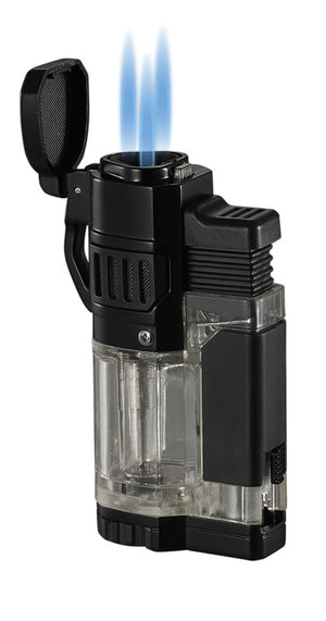 Torre Triple Torch Cigar Lighter - Clear