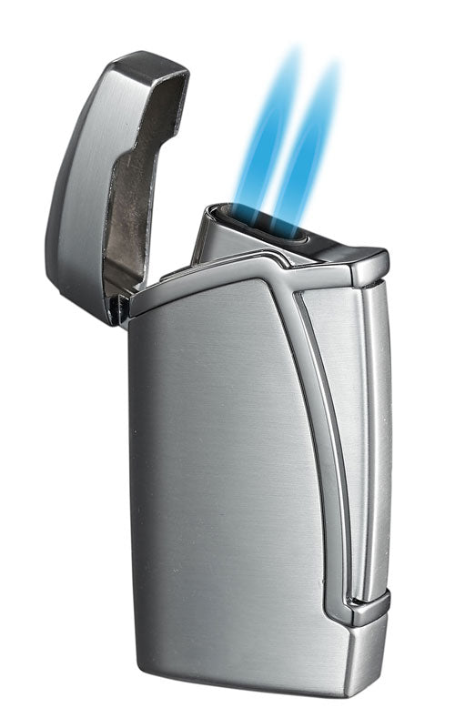 Everest Dual Torch Flame - Silver