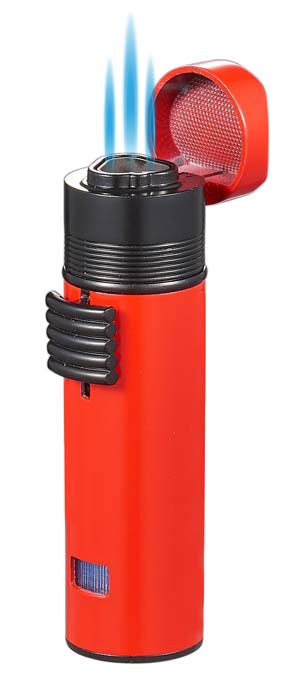 Visol Saddle Triple Torch Lighter -Red