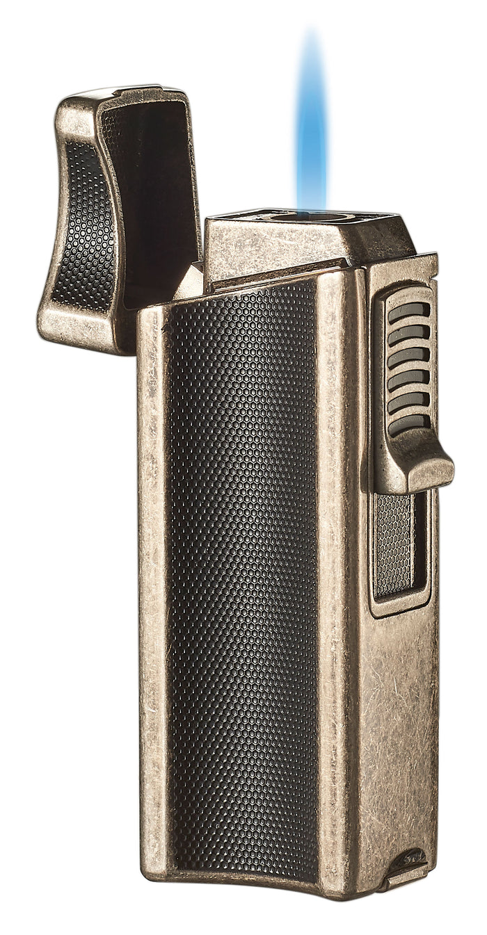 Visol Ridge Antique Single Flame Torch Lighter with Cigar Rest