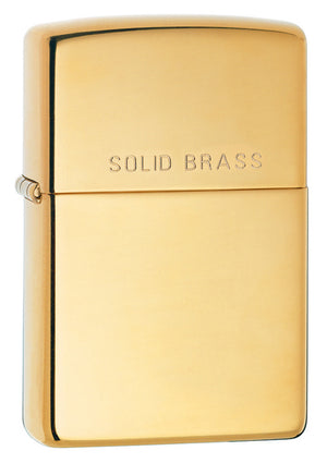 Zippo High Polish Stamped Brass Lighter