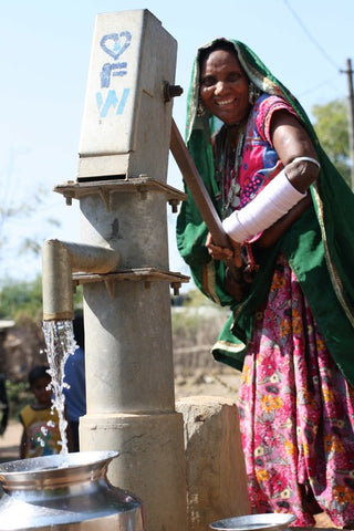 Woman with pump in India