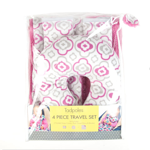 Kids Travel Pillow with matching Blanket and Strap Covers