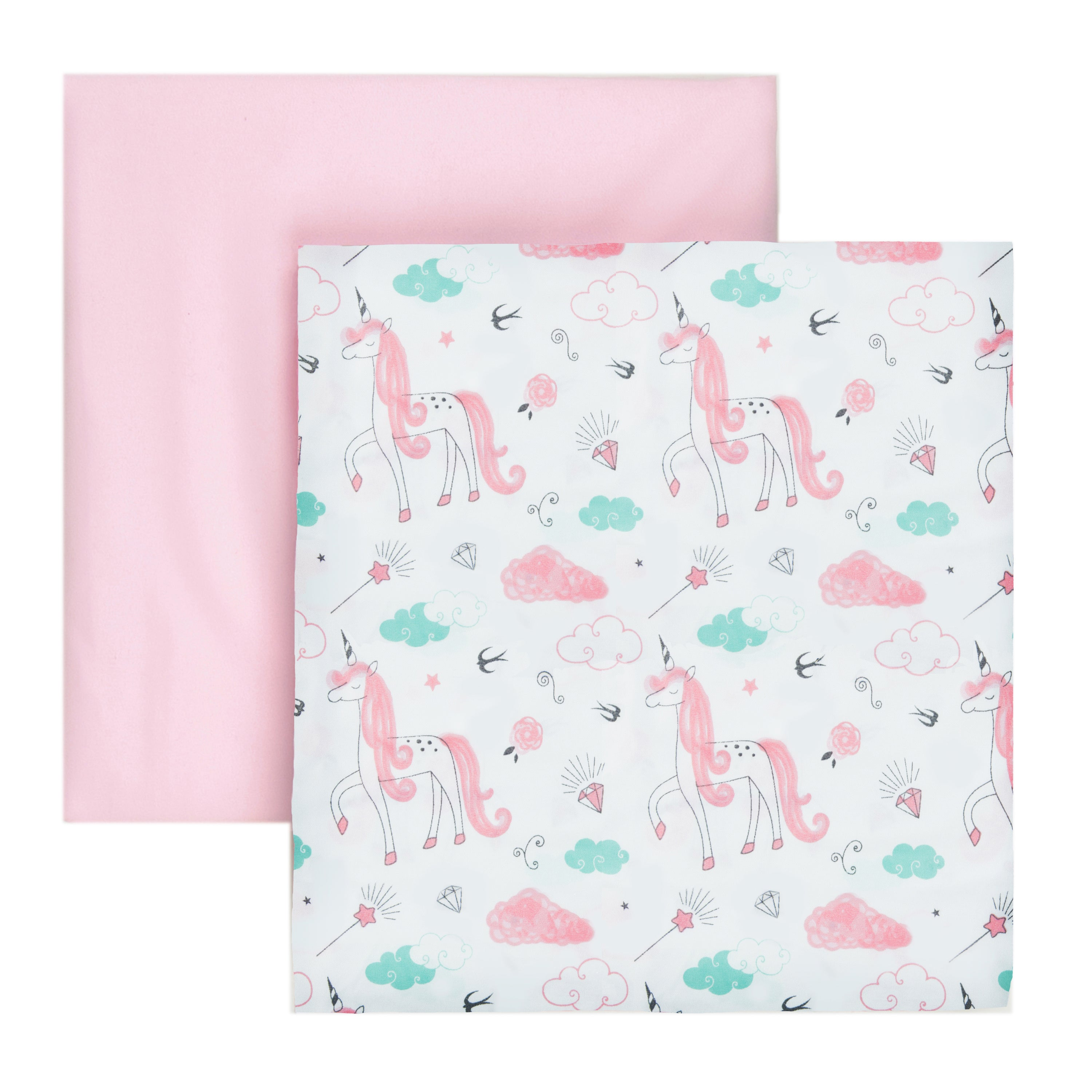 Animals Print BABY COT VALANCE SHEET WITH FRILLS ALL ROUND //TO FIT COT//COT BED