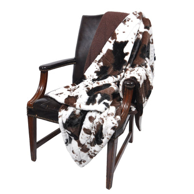 Cowhide Print Throw Blanket