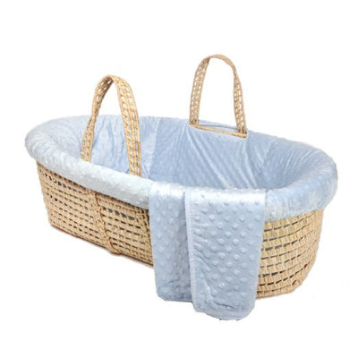 Moses Basket & Minky Dot Bedding