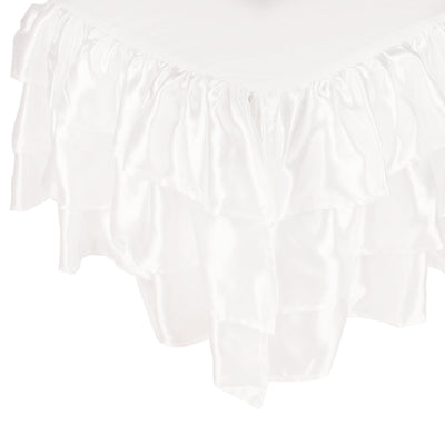 Ruffled Satin Twin Bed Skirt