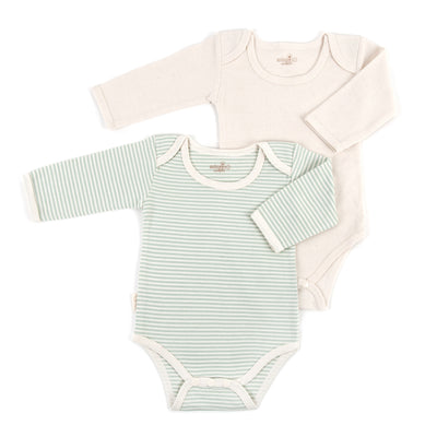 Organic Pinstripe Bodysuits - Set of 2