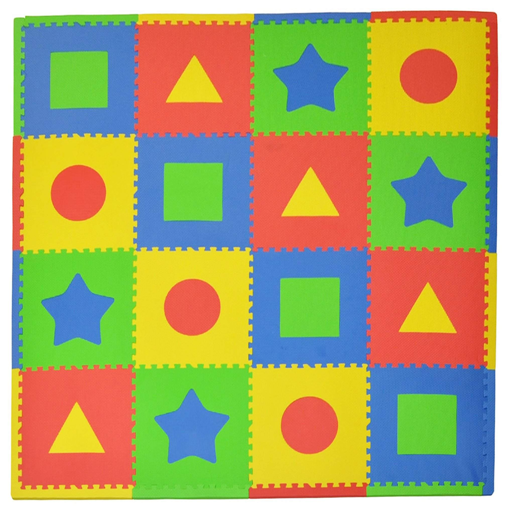 16 Piece Foam Playmat Set, First Shapes