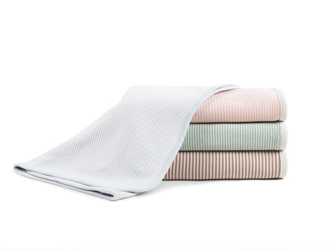 Pinstripe Organic Double Layer Receiving Blanket