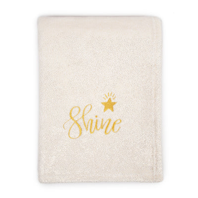 Metallic Star Plush Fleece Baby Blanket