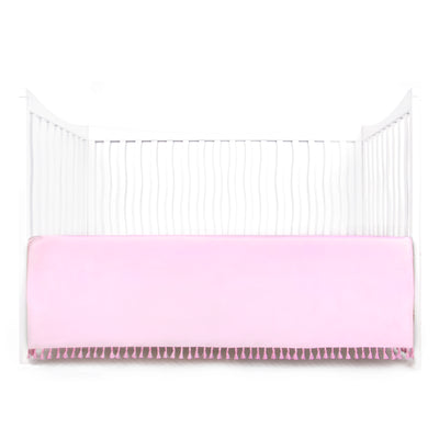 Microfiber Crib Skirt with Tassel