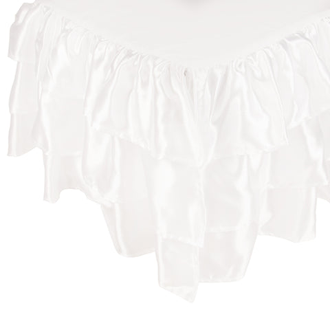 Tadpoles Ruffled Satin Crib Skirt