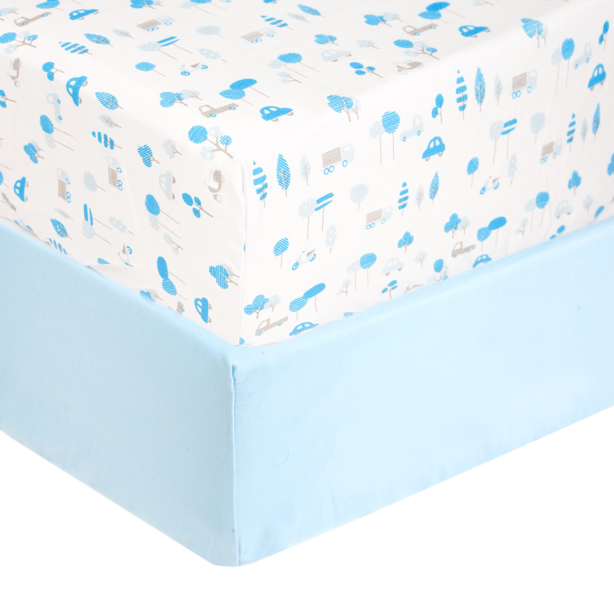 Tadpoles 2 Piece Microfiber Crib Fitted Sheets Tadpoles
