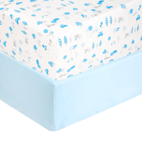 Tadpoles 2 Piece Microfiber Crib Fitted Sheets