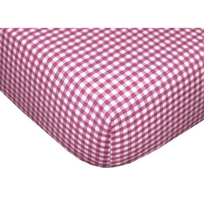 Gingham Fitted Crib Sheets - Set of 2