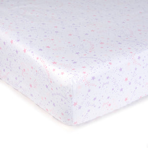 Microfiber Fitted Crib Sheets - Set of 2