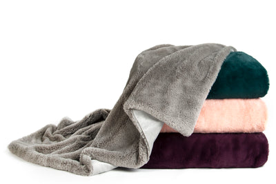 Sleeping Partners Super Soft Double Layer Faux Fur Throw Blanket