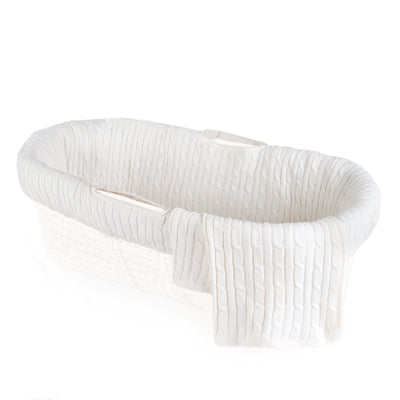 Moses Basket & Cable Knit Bedding