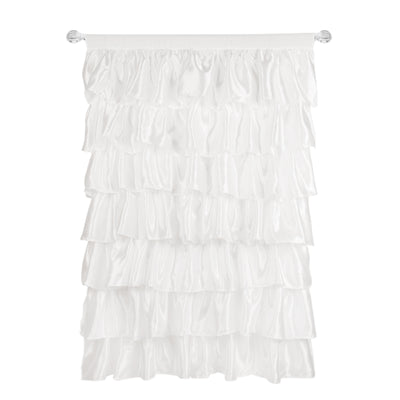 Ruffled Satin Curtain Panel
