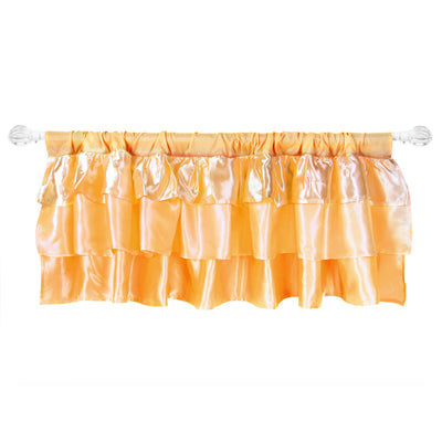 Ruffled Satin Window Valance