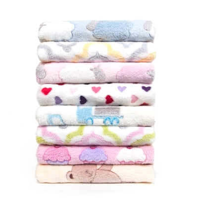 3D Jacquard Plush Ultra-Soft Baby Blanket