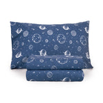 Load image into Gallery viewer, Kids Rule Sheet Set Printed Shark Sketch, Blue