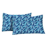 Load image into Gallery viewer, Kids Rule Sheet Set, Dinosaur Camo, Blue