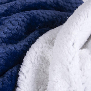 Popcorn & Sherpa Double Layered Throw Blanket