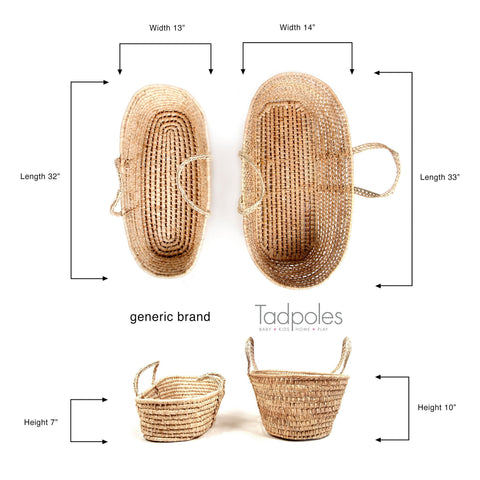 Woven Palm Leaf Moses Basket