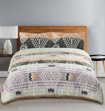 Load image into Gallery viewer, Muk Luks Bohemian Style Comforter Set With Fur Trim & Matching Shams, Peach and Purple