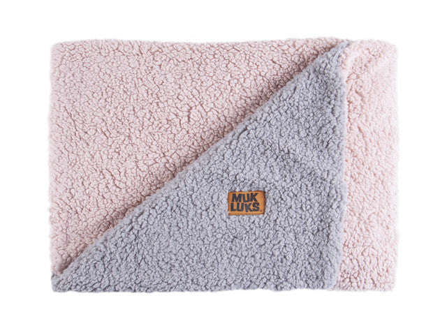 Muk Luks Double Sided Sherpa Throw Blanket