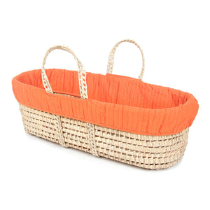 Orange Bedding with Moses Basket