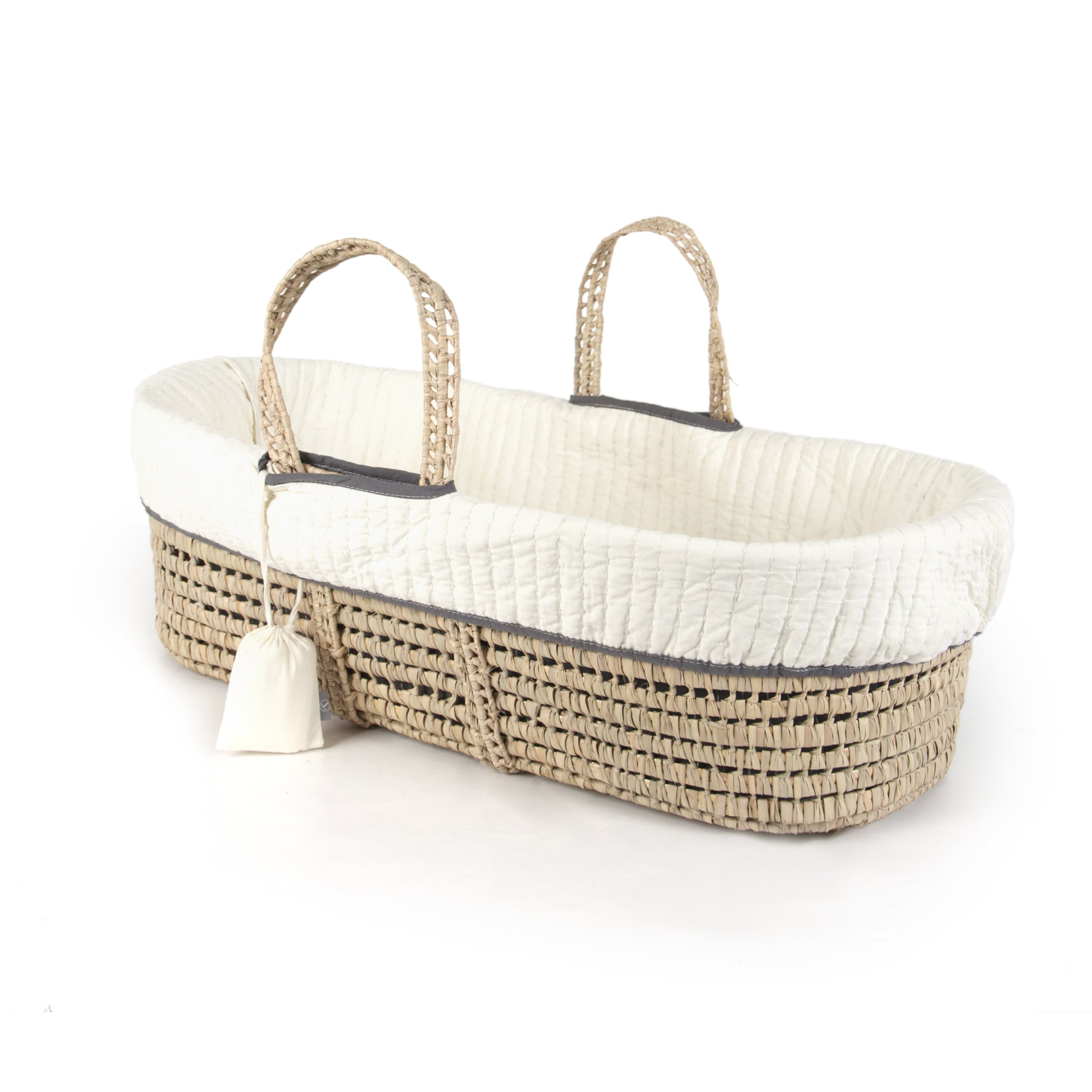 Ivory Tadpoles MBBDKT011C Cable Knit Moses Basket Bedding Only