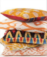 Load image into Gallery viewer, Velvet Handwoven Ikat Pillow