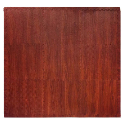 Play Mat Dark Wood Grain