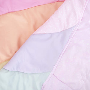 Kids Rule Rainbow Panel Quilt Set, Pink, Multicolored