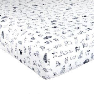 Sheet Set  Dog Sketch Style, Twin & Full/Queen