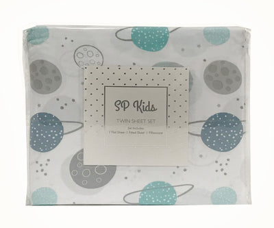 SP Kids Twin & Full Size Sheet Set, Space