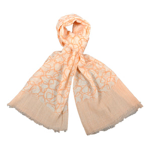 Deco Print Wool Silk Blend Shawl