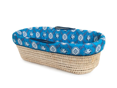 Baby Shower Gift Basket, Bandana Blue