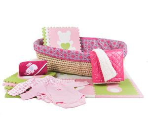 Baby Shower Gift Basket, Pretty In Pink