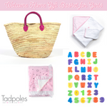 Load image into Gallery viewer, Limited Edition Welcome Home 5 Piece Gift Basket for Baby Girls, Pink