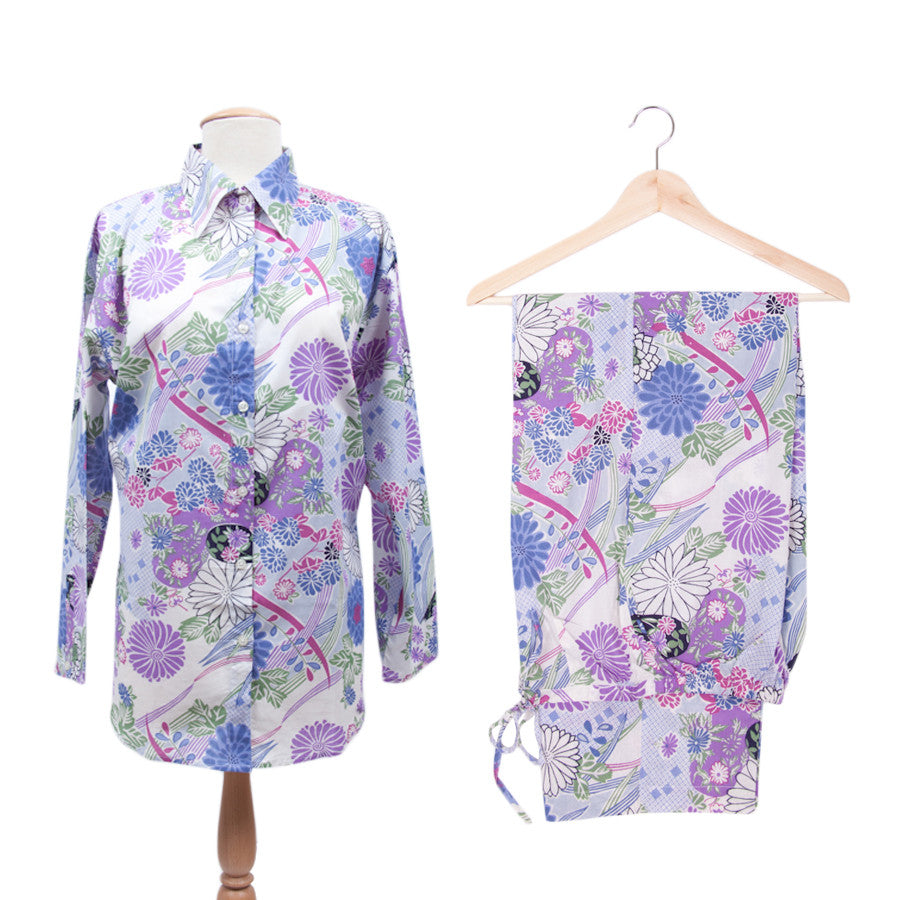 Daisies and Leaves Women's Pajamas