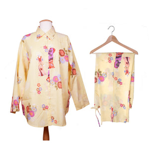 Geisha and Flower Women's Pajamas
