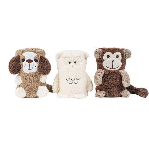Animal Pals Rolled Sherpa Blanket