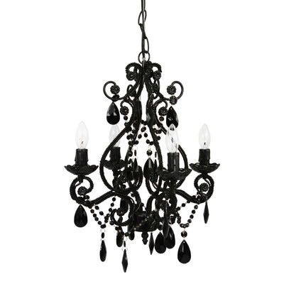 4 Bulb Beaded Mini Chandelier