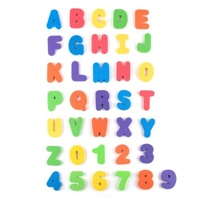 ABC Foam Bath Letters In Mesh Bag, 36 Pieces