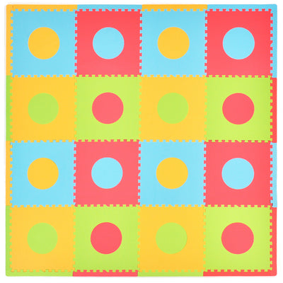 Circles 16 Piece Play Mat Set
