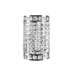 Load image into Gallery viewer, Faux-Crystal & Chrome Cylinder Shape Pendant